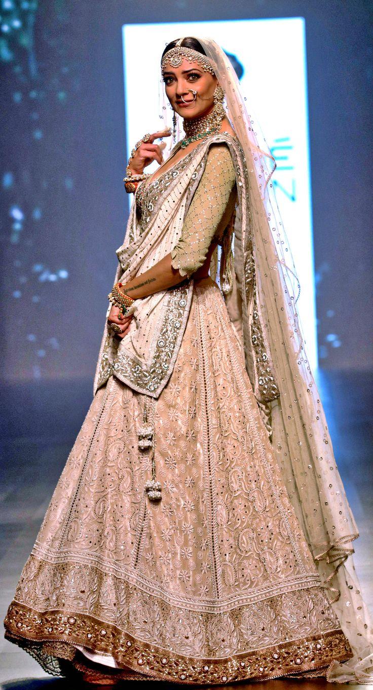 "aishwaryaraii: """"Former Miss Universe Sushmita Sen walks in design inspired by ""Umrao Jaan"" on the ramp as the showstopper for brand Kotwara by Meera and Muzaffar Ali. "" """