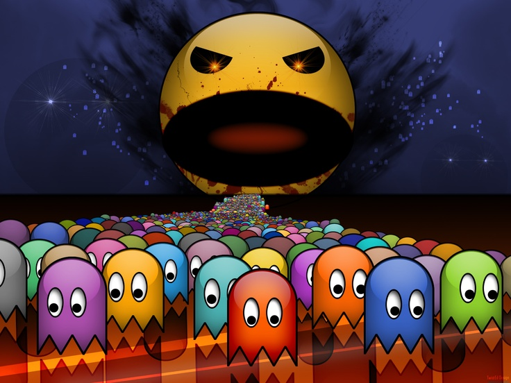 Death to the ghosts!... wait: Videos Games, Pac Demons, Pac Man Wallpapers, Retro Videos, 98 Games, Pacman Wallpapers, Nerdy Things, Super Pacman, Games Wallpapers