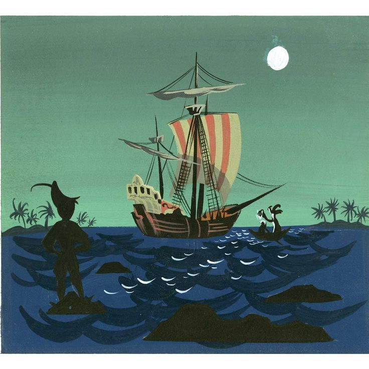 Mary Blair concept art for Disney's Peter Pan