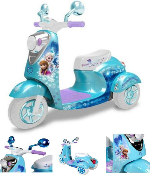 Girls Electric Scooter Mopad Car Frozen Motorcycle Bike