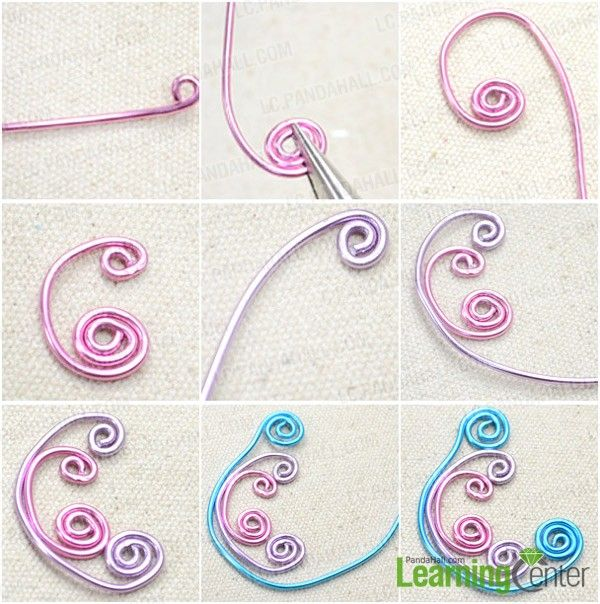 292 best Aluminium wire jewelry images on Pinterest Wire necklace