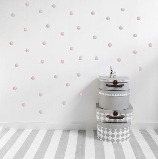 Stickstay Väggdekor Dusty Pink Dots i gruppen Barnrum / Dekoration hos Köpbarnvagn.se (stickst_dp_dots)