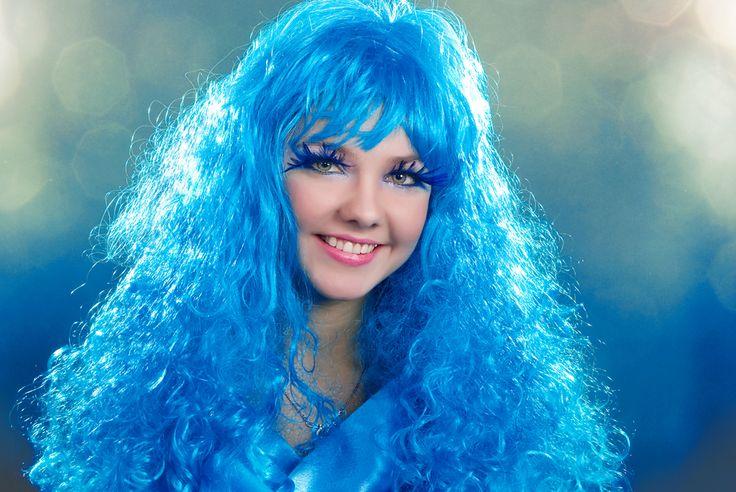 прикольные картинки юлька с синими волосами лучшего всего семья