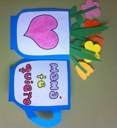 Tarjetas de tacitas con flores para el día de la madre.        Aquí os dejo los patrones para hacer las tarjetas de las tazas            ...