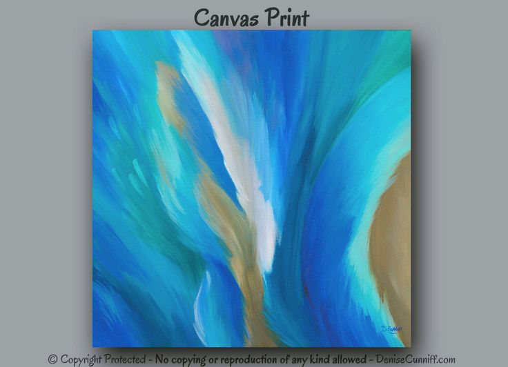 Large wall art, Abstract painting - Canvas art print, Teal home decor, Turquoise, Blue, Aqua, Brown,Square,Office wall decor,Bedroom,Artwork by ArtFromDenise on Etsy https://www.etsy.com/listing/200472557/large-wall-art-abstract-painting-canvas