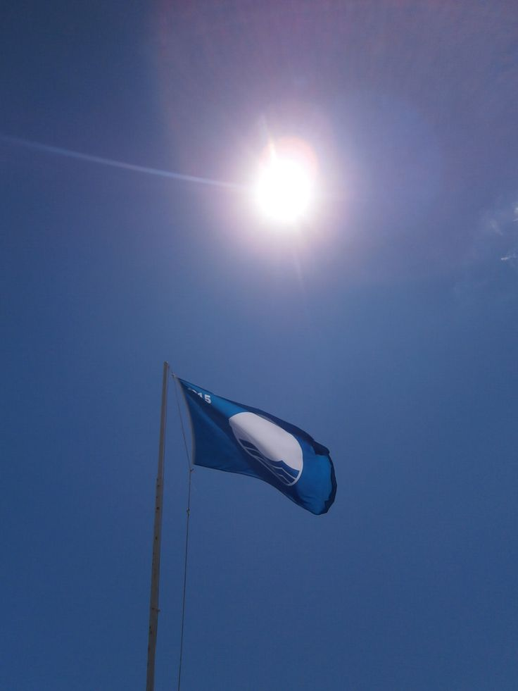 The Blue Flag 2015 of Apollonia Beach Resort & Spa in the blue sky of Greece!