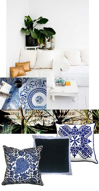 Blue and White Tropical Master Bedroom Decor Inspiration -middle by ...love Maegan, via Flickr