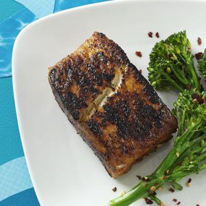 Blackened Halibut from April/May Simple&Delicious magazine. We need to branch out from the salmon this year!