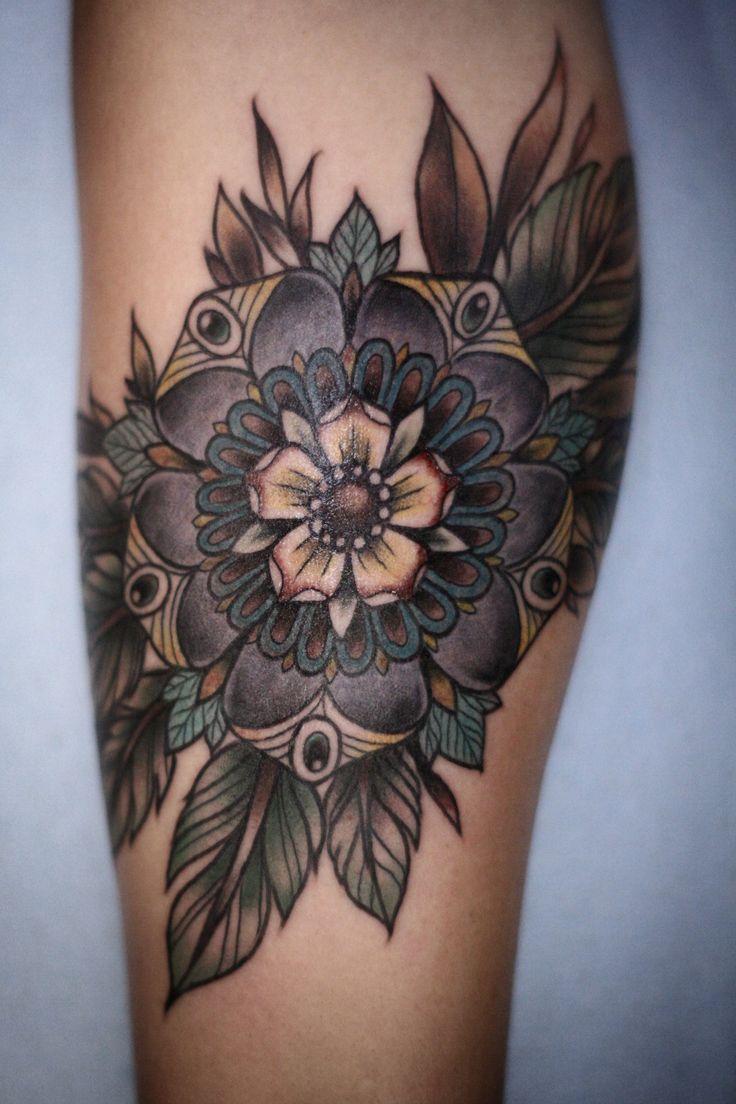 126 best tatoo images on pinterest tatoo tattoo ideas and tatoos i like these muted colors too purple flowermandala tattoo alice carrier dhlflorist Images
