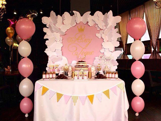 Pink&gold candy bar for little Alsou✨✨ Для заказа декора пишите/звоните на номера 8-924-35-11-666 или 8-924-756-39-66 (WAp/V/Direct)