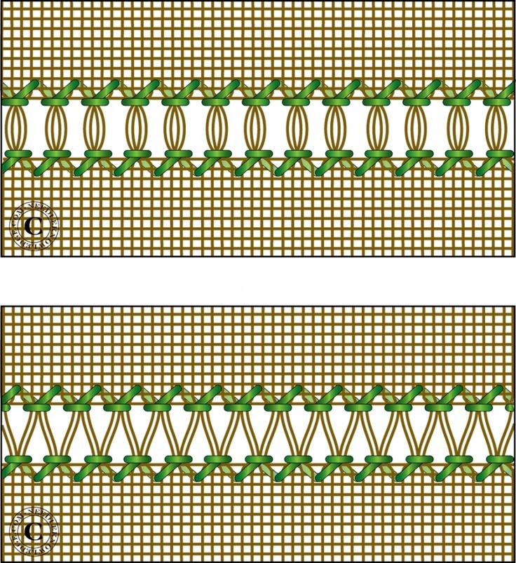 Hemstitch - Ladder and Serpentine Variations