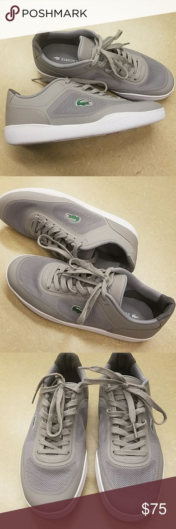 BOGO 50% OFF! LACOSTE TRAMLINE SNEAKERS NWT. CAN BE UNISEX -  MENS SIZE 7 / WOMANS SIZE  9 . NO BOX Lacoste Shoes