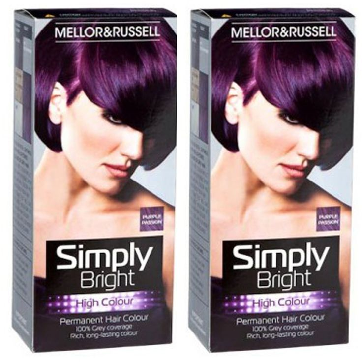 2 x Simply Bright Purple Passion High Colour Permanent Hair Dye