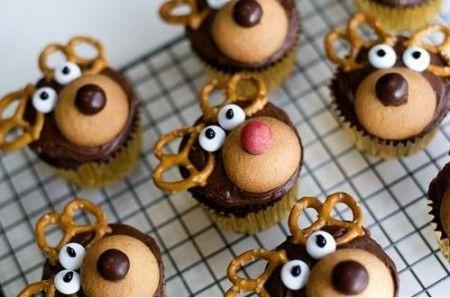 Dolci Natale 2011: muffin a forma di renne