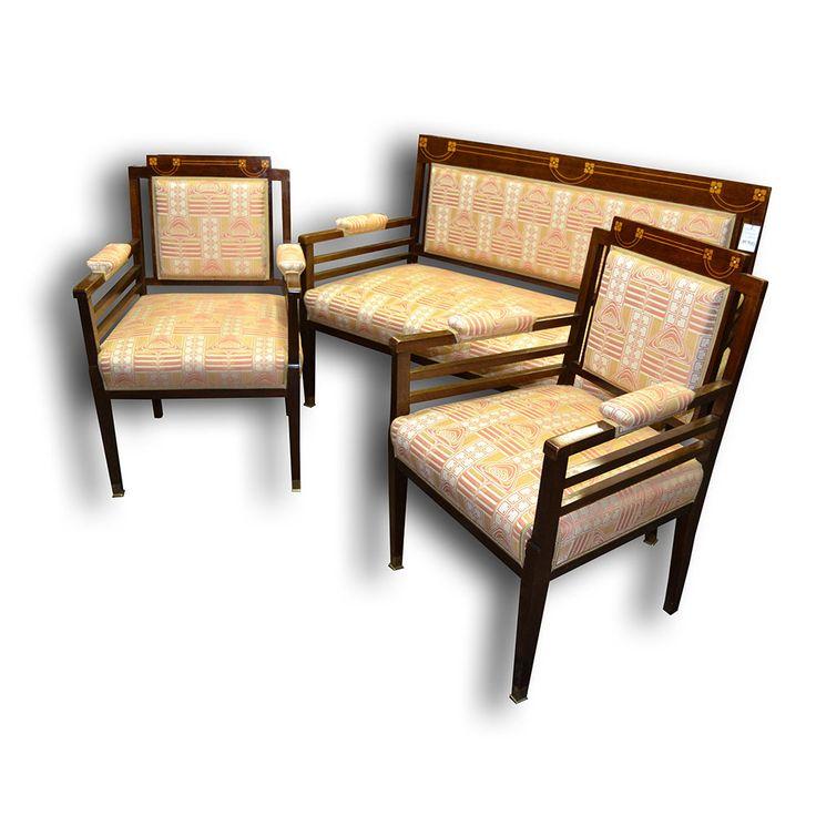 Sedací souprava - Secese  Art Nouveau sofa + armchairs