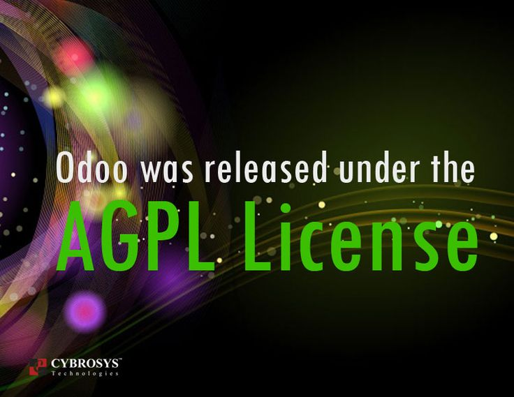 Odoo is released under version 3 of the GNU Affero General Public License (also known as AGPLv3), from the Free Software Foundation. The AGPLv3 is a free, copyleft license for software and other kinds of works, specifically designed to ensure cooperation with the community in the case of network server software interactions.