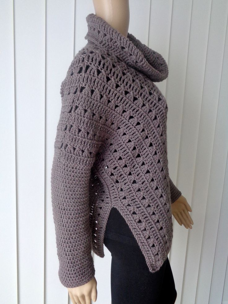 77 best Häkel Poncho images on Pinterest | Jacken, Kleidung häkeln ...