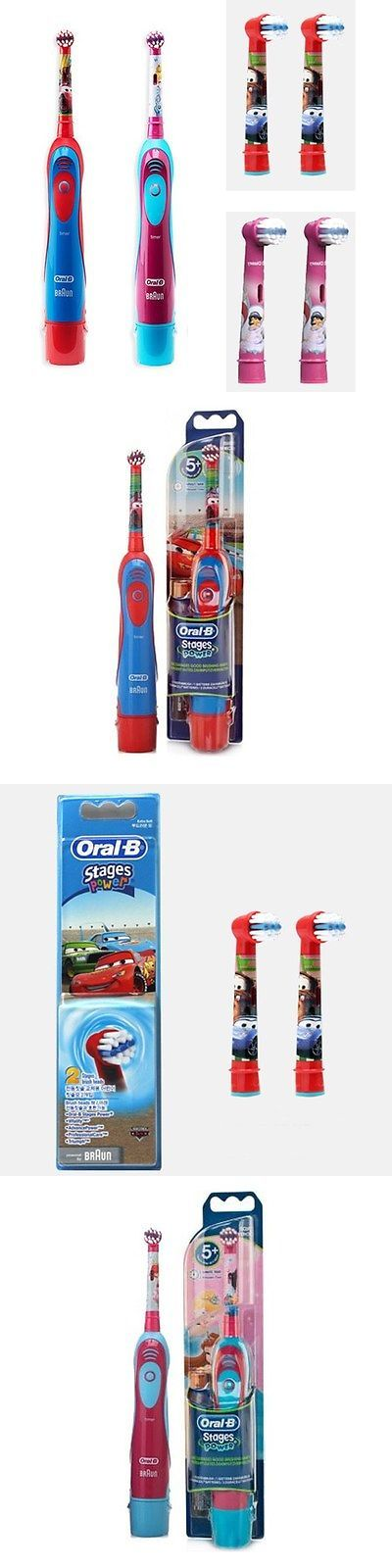 Childrens Oral Care: Oral-B Kids Db4510k Stages Power Electric Toothbrush 1Ea And Repacement Heads 2Ea BUY IT NOW ONLY: $33.5