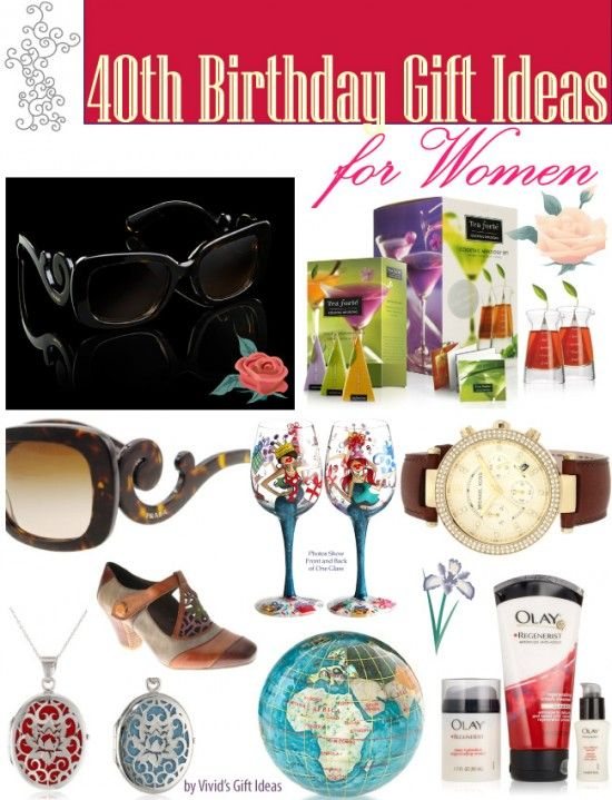 40th Birthday Gift Ideas For Women 40th Birthday Gifts