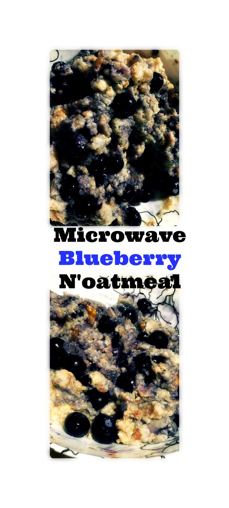 Microwave Blueberry N'oatmeal