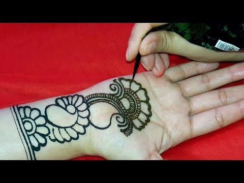 simple and easy arabic mehndi designs for beginners front hand