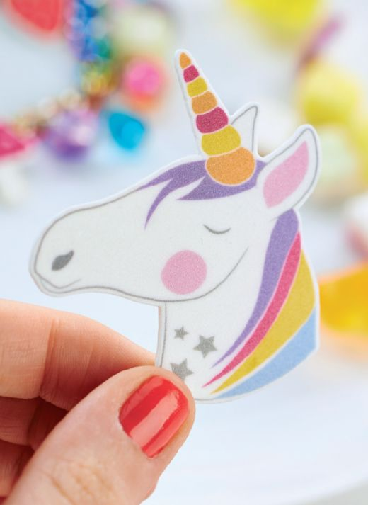 Rainbow & Unicorn Shrink Plastic Jewellery