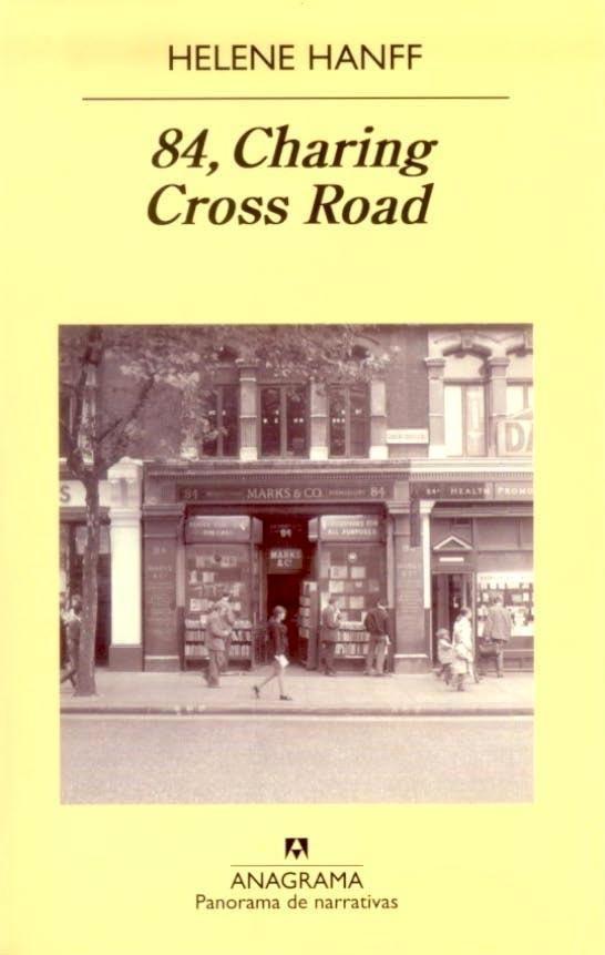 Un día, en octubre de 1949, Helene Hanff, una joven escritora desconocida, envía una carta desde Nueva York a Marks & Co., la librería situada en el 84 de Charing Cross Road, en Londres. Apasionada, maniática, extravagante y muchas veces sin un duro, la señorita Hanff le reclama al librero Frank Doel volúmenes poco menos que inencontrables que apaciguarán su insaciable sed de descubrimientos. Helene Hanff: 84, Charing Cross Road (Anagrama)