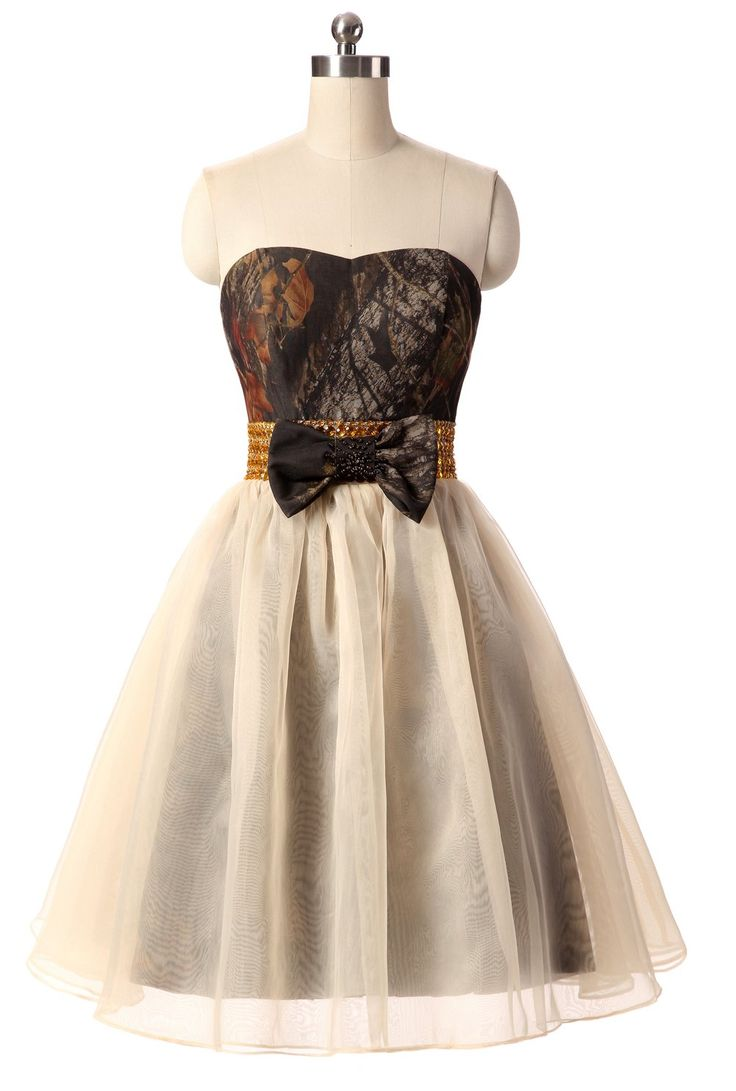 Snowskite Womens Sweetheart Short Camo Tulle Prom Party Homecoming Dress 0. Do have a look at of our size chart before choosing size as Special occassion dresses often run smaller than your daily dresses. Lovely Short Sweetheart Camo Tulle Gold Sequins Cocktail Party Formal Dress with Bow and Zipper Back. Boned and Fully Lined,With inside bra pads,There are 4-8 bones on the bodice for evening dress,and for wedding dress there are 11-16 bones,So they can better shows the figure. We can…