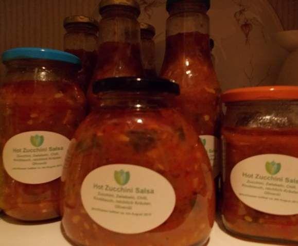 Rezept Zuchini Salsa scharf süss würzig von uschimomo - Rezept der Kategorie Saucen/Dips/Brotaufstriche
