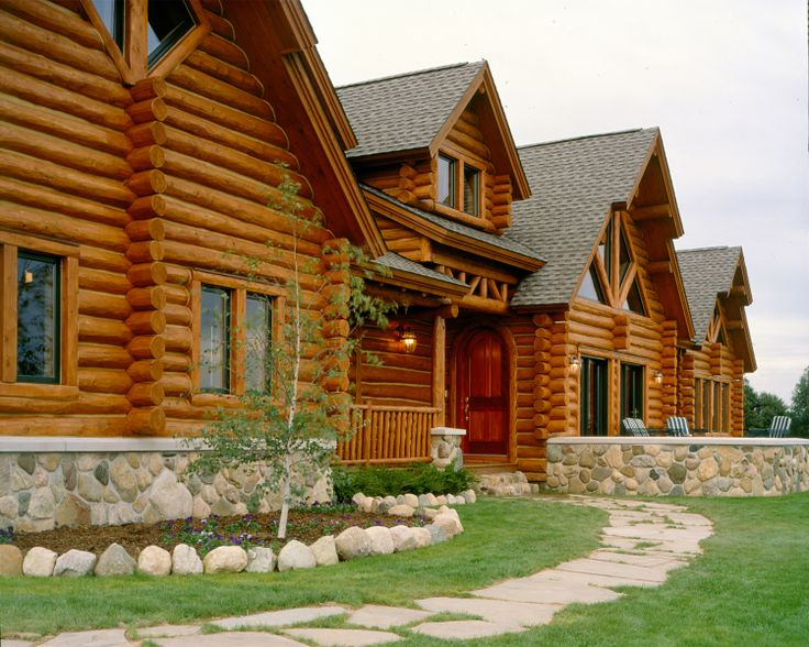 30 best images about hybrid log homes 1 2 log siding on for Log siding for houses