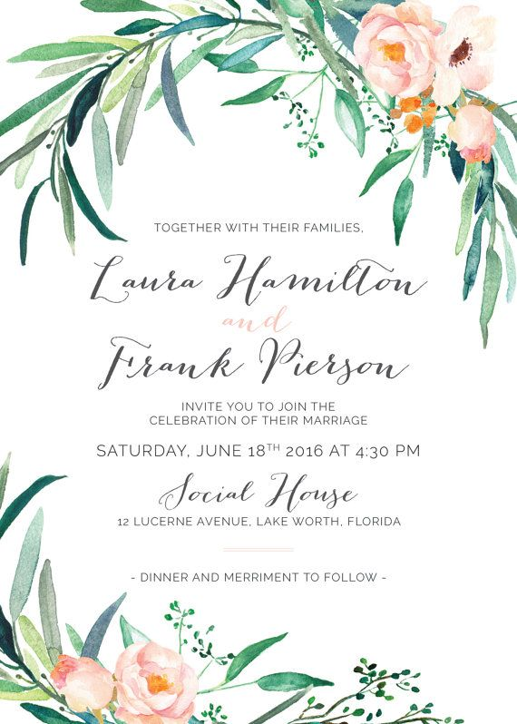 best 25+ printable wedding invitations ideas only on pinterest, Wedding invitations