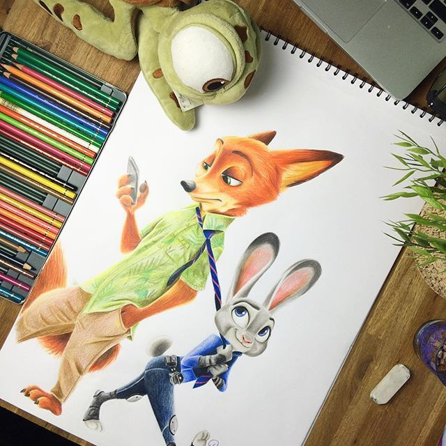 Z O O T O P I A  #zootopia #zoomania #disney #zootopiafanart #disneyart #zootopiadrawing  Tell me what you think about it in the comments below ⬇️⬇️⬇️ This drawing is available in my #etsy shop. A time lapse video is on my #YouTube Chanel. Link in my bio ⬆️⬆️⬆️⬆️ #art #drawing #instadraw #nawden#nawdens #art_nerdy #artistshouts#art_spotlight #artist_4_help #arts_help#sketchyarts #topworkofart #_masterofart_#spotlightonartists #siskoarts #art_collective#worldofpencils #skri...