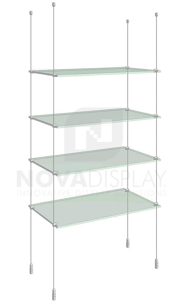 Cable Suspended Glass Shelving Kit Ksi 004 Glass Shelves In Bathroom Glass Shelves Tempered Glass Shelves