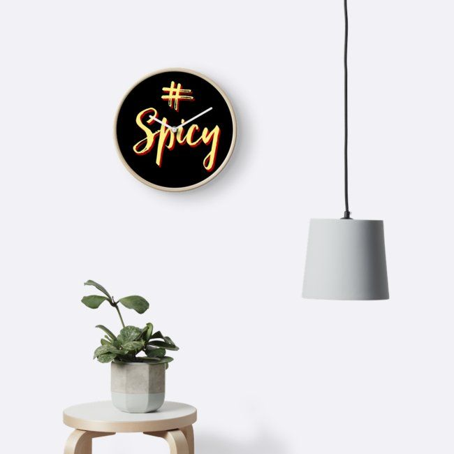 """""""# Spicy (black)"""" Clocks by Chillifoodie 