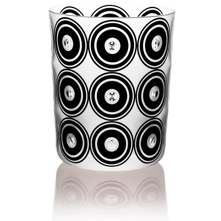 ORGANICA | Handmade Glass Blown Large Tumbler, Organica-Black 1924, height: 110 mm | top diameter: 83 mm | volume: 380 ml | Bohemian Crystal | Crystal Glass | Luxurious Glass | Hand Engraved | Original Gift for Everyone | clarescoglass.com