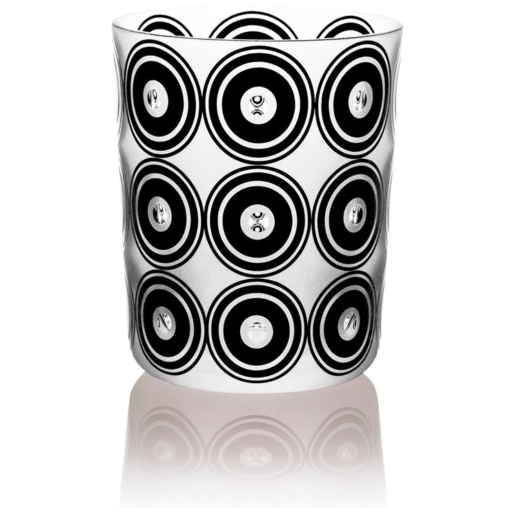 ORGANICA   Handmade Glass Blown Large Tumbler, Organica-Black 1924, height: 110 mm   top diameter: 83 mm   volume: 380 ml   Bohemian Crystal   Crystal Glass   Luxurious Glass   Hand Engraved   Original Gift for Everyone   clarescoglass.com