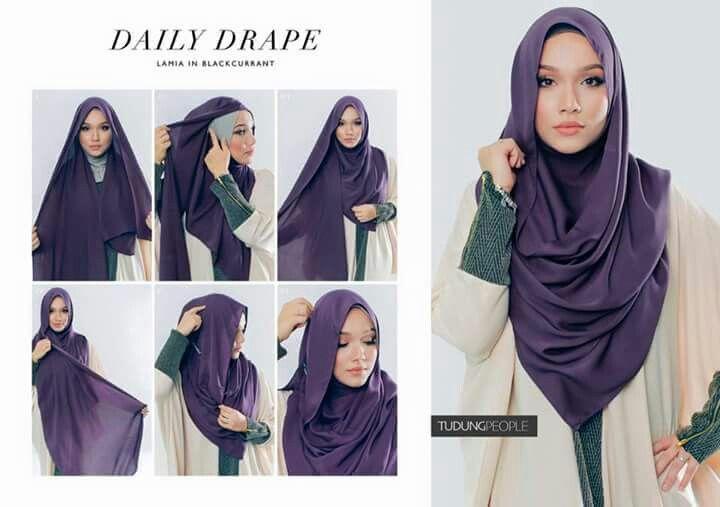 Daily drape hijab.
