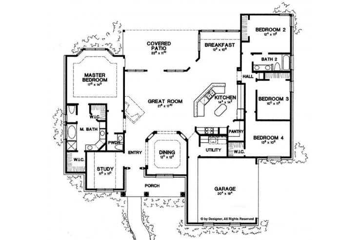 Home Plan Homepw06786 2500 Square Foot 4 Bedroom 2