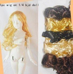 Модные куклы вьющиеся волосы волнистые волосы ручной работы BJD парики волосы 3 цвета для BJD куклы DIY низкая цена бесплатная доставка
