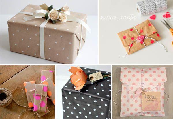polka dot gift wrapping