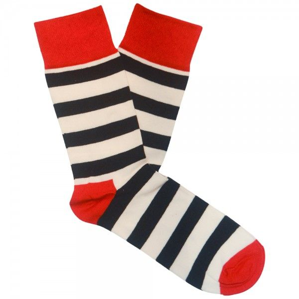 Happy Socks - Stripe Sock Red White Blue