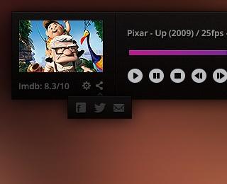 Dark Video Player UI by Orhan (via Creattica)