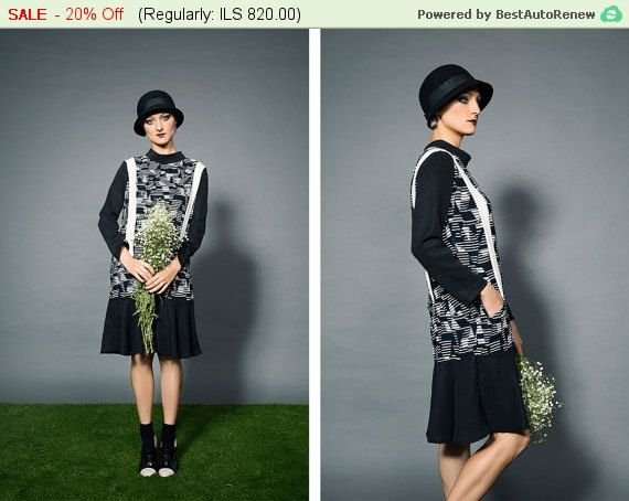 Flapper Dress / Gatsby Dress / Black and White by TangensDesigns