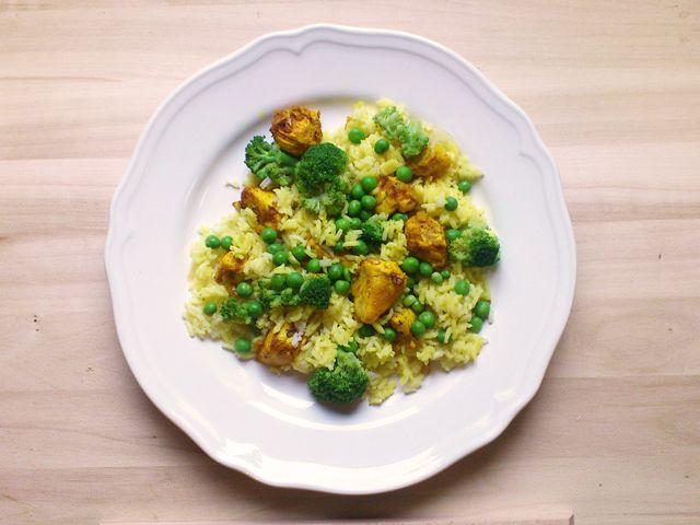 Zöldséges, csirkés piláf