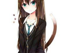 Inspiring image -, anime, art, cat, girl, neko, school, uniform #2523908 by taraa - Resolution 801x1280px - Find the image to your taste