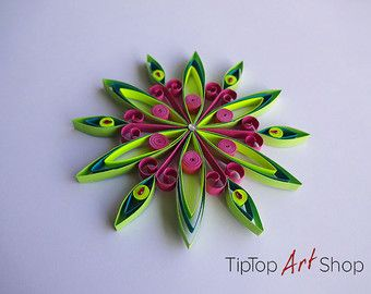 Quilling Angel Quilling Art Ornament Quilled Set by AuroraSanat