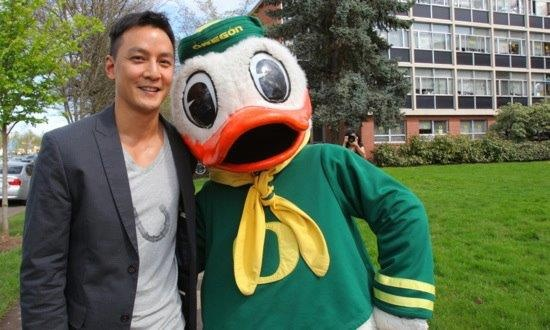 Daniel Wu, a UO grad is now a famous actor who has acted with Jackie CHAN! Ahhhmazing where UO gets you! =)   #nationalbrand