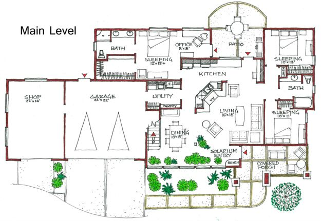 House Plan 192 00020 Ranch Plan 2 036 Square Feet 3 Bedrooms 2 Bathrooms Passive Solar Homes Energy Efficient House Plans Solar House Plans
