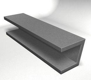 WS-132 Concrete Cantilever Bench