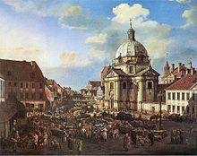 Kościół Panien Sakramentek widok z 1770